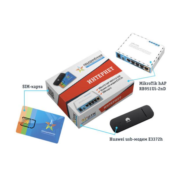 Комплект оборудования для безлимитного 4G LTE интернета в офис